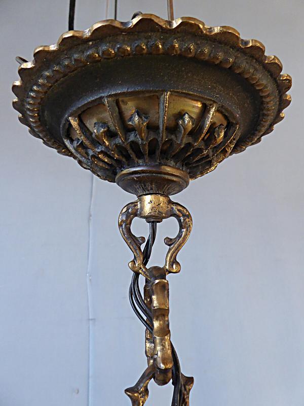 Messingkronleuchter 9-flammig, Set mit Wand- und Kerzenleuchter