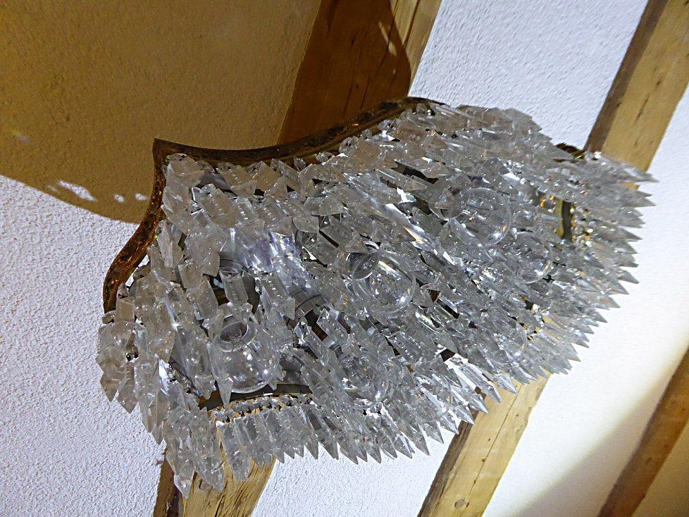 Plafoniere De Metal : Antiker deckenlüster plafoniere länglich geschwungen