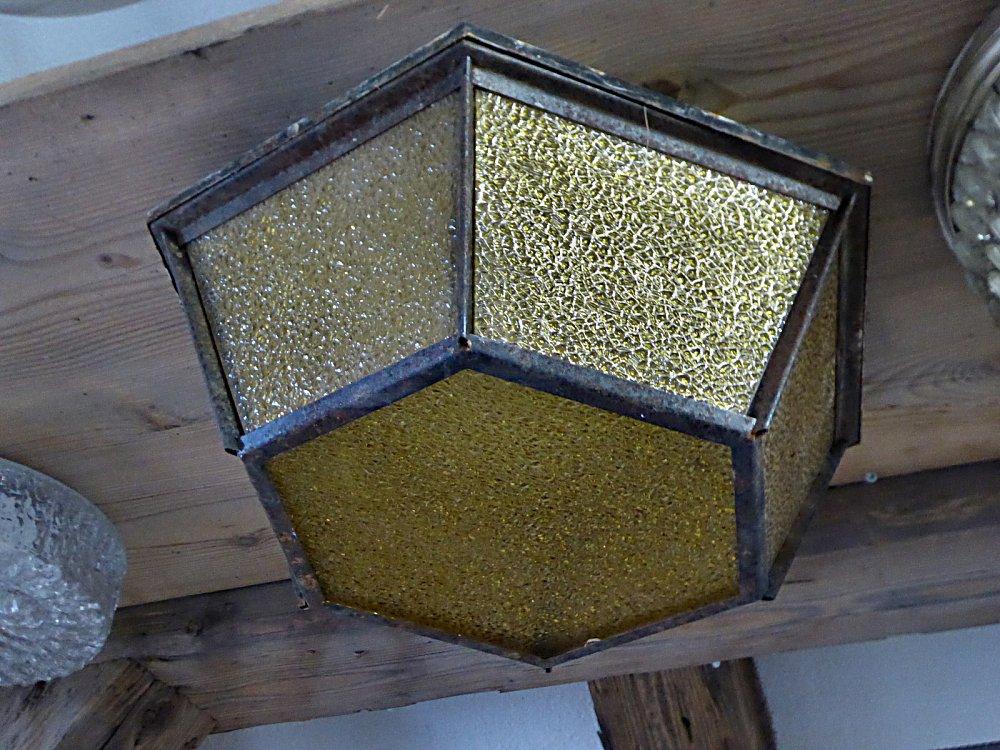 Deckenlampe Jugendstil Plafoniere : Deckenleuchte plafoniere mit ornamentglas