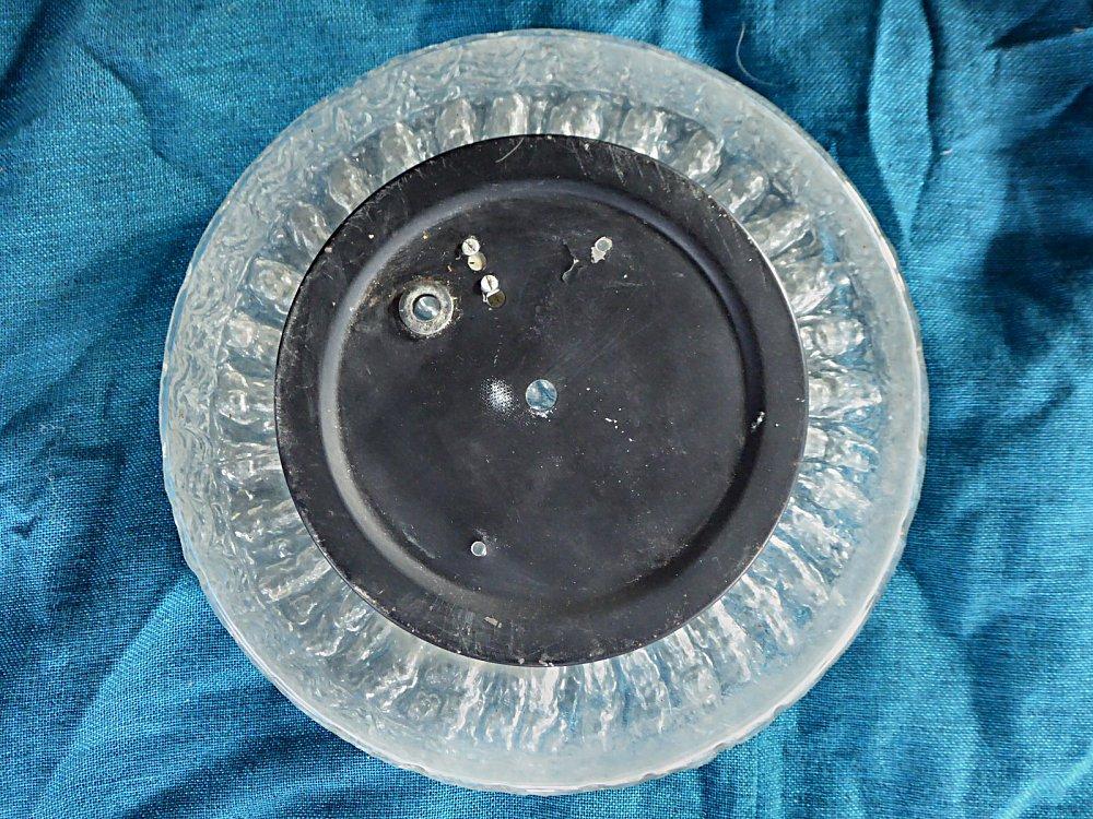 Plafonniere Messing Glas : Retro deckenleuchte aus eisglas original er jahre