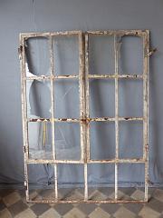 Eisenfenster mit /Öffnung H/öhe ca Antikas Breite ca 44,5 cm 74,5 cm als Stall-Fenster oder Garagenfenster
